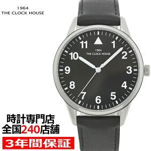 ザ・クロックハウス MBC5004-BK1B ビジネスカジュアル メンズ 腕時計 クオーツ 黒レザー ブラック リーズナブル THE CLOCK HOUSE|theclockhouse-y