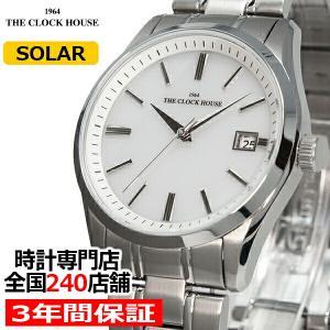 ザ・クロックハウス MBF1006-WH1A ビジネスフォーマル メンズ 腕時計 ソーラー ステンレス ホワイト 雑誌掲載 THE CLOCK HOUSE|theclockhouse-y