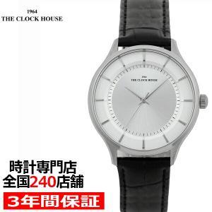 ザ・クロックハウス MBF5001-SI1B ビジネスフォーマル メンズ 腕時計 クオーツ 黒レザー シルバー THE CLOCK HOUSE|theclockhouse-y