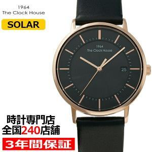 ザ・クロックハウス MCA1003-BK2B メンズカジュアル メンズ 腕時計 ソーラー 黒革ベルト ブラック カレンダー THE CLOCK HOUSE theclockhouse-y