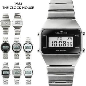 ザ・クロックハウス タウンカジュアル メタル デジタル ユニセックス 腕時計 ブラック グレー ホワイト レトロモダン 防水 MTC700|theclockhouse-y