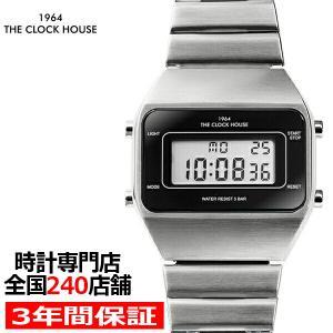 ザ・クロックハウス タウンカジュアル メタル デジタル ユニセックス 腕時計 オクタゴン ブラック シルバー レトロモダン 防水 MTC7001-BK1A|theclockhouse-y