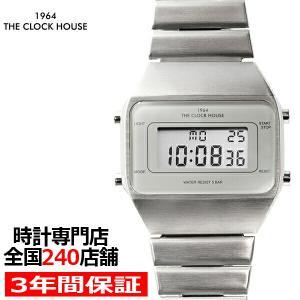 ザ・クロックハウス タウンカジュアル メタル デジタル ユニセックス 腕時計 オクタゴン グレー シルバー レトロモダン 防水 MTC7001-GY1A|theclockhouse-y