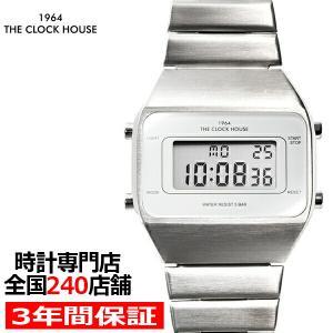 ザ・クロックハウス タウンカジュアル メタル デジタル ユニセックス 腕時計 オクタゴン ホワイト シルバー レトロモダン 防水 MTC7001-WH1A|theclockhouse-y