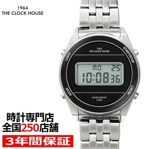 ザ・クロックハウス タウンカジュアル メタル デジタル ユニセックス 腕時計 ラウンド ブラック シルバー レトロモダン 防水 MTC7002-BK1A|theclockhouse-y