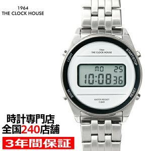 ザ・クロックハウス タウンカジュアル メタル デジタル ユニセックス 腕時計 ラウンド ホワイト シルバー レトロモダン 防水 MTC7002-WH1A|theclockhouse-y