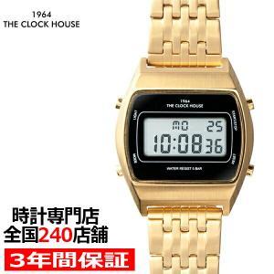 ザ・クロックハウス タウンカジュアル 限定モデル メタル デジタル ユニセックス 腕時計 トノー ブラック レトロモダン 防水 MTC7003-BK2ALIM|theclockhouse-y