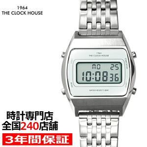 ザ・クロックハウス タウンカジュアル メタル デジタル ユニセックス 腕時計 トノー ホワイト シルバー レトロモダン 防水 MTC7003-WH1A|theclockhouse-y
