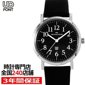 ザ・クロックハウス MUD5001-BK1B ユニバーサルデザイン メンズ 腕時計 クオーツ 黒レザー ブラック ユニセックス|theclockhouse-y