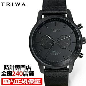 TRIWA トリワ NEVIL ネビル ナイト NEST127-CL010101 メンズ レディース 腕時計 クオーツ クロノグラフ 革ベルト ブラック|theclockhouse-y