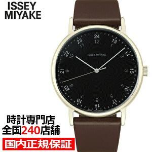 ISSEY MIYAKE イッセイミヤケ f エフ NYAJ008 メンズ 腕時計 クオーツ 電池式 革ベルト ブラック 岩崎 一郎デザイン|theclockhouse-y