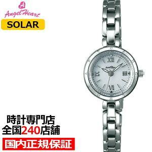 エンジェルハート ピュアエンジェル PA22SW レディース 腕時計 ソーラー ステンレス ホワイト スワロフスキー|theclockhouse-y