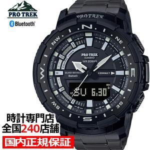 プロトレック ANGLER LINE アングラーライン チタンバンド PRT-B70YT-1JF メンズ 腕時計 電池式 Bluetooth アナデジ フィッシング 釣り 国内正規品 theclockhouse-y