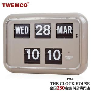TWEMCO トゥエンコ 掛置兼用 パタパタ時計 フリップクロック パーペチュアルカレンダー グレー QD-35|theclockhouse-y