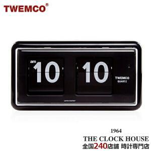 TWEMCO トゥエンコ パタパタ時計 フリップクロック パーペチュアルカレンダー 置き時計 ブラック QT-30 BLACK|theclockhouse-y