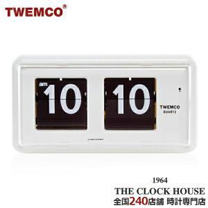 TWEMCO トゥエンコ パタパタ時計 フリップクロック パーペチュアルカレンダー 置き時計 ホワイト QT-30|theclockhouse-y