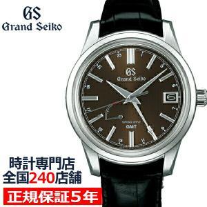 グランドセイコー スプリングドライブ 9R GMT メンズ 腕時計 SBGE227 革ベルト ブラック 9R66 theclockhouse-y