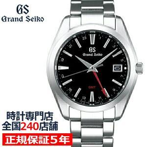 グランドセイコー 9Fクオーツ GMT メンズ 腕時計 SBGN013 ブラック メタルベルト カレンダー スクリューバック 9F86 theclockhouse-y