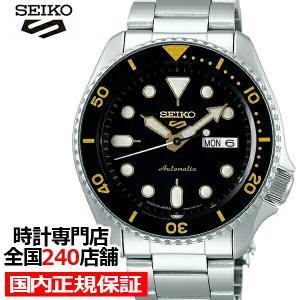 セイコー 5スポーツ SBSA007 メンズ 腕時計 メカニカル 自動巻き ブラック デイデイト 日本製|theclockhouse-y