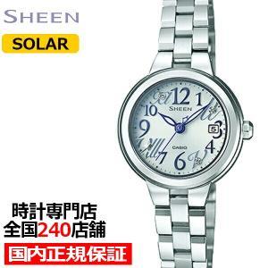 カシオ シーン SHE-4506SBD-7AJF レディース 腕時計 ソーラー ホワイト メタル ソーラーサファイア theclockhouse-y