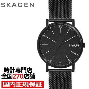 スカーゲン シグネチャー SKW6579 メンズ 腕時計 クオーツ メッシュ ブラック 値下げ|theclockhouse-y
