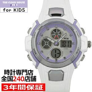 ザ・クロックハウス TCHP1001-WHPU01 子供用 キッズ 腕時計 プチシリーズ アナデジ 防水 女の子 白×紫 パステル ガールズ|theclockhouse-y
