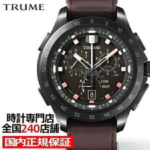 TRUME トゥルーム Lコレクション ブレークライン キャニオンブラウン TR-MB7014 メンズ 腕時計 ライトチャージGPS衛星電波 レザーバンド|theclockhouse-y