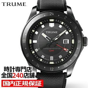 TRUME トゥルーム Lコレクション ブレークライン TR-ME2002 メンズ 腕時計 自動巻発電 GMT セラミックベゼル ナイロンバンド ブラック|theclockhouse-y