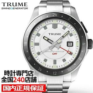 TRUME トゥルーム Lコレクション ブレークライン TR-ME2011 メンズ 腕時計 自動巻発電 GMT セラミックベゼル メタルバンド ホワイト|theclockhouse-y
