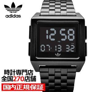 adidas アディダス ARCHIVE_M1 Z01-001-00 メンズ レディース 腕時計 デジタル メタル ブラック 国内正規品 男女兼用|theclockhouse-y