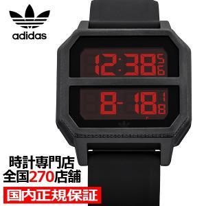 adidas アディダス ARCHIVE_R2 Z16-760-00 メンズ レディース 腕時計 デジタル シリコン ブラック 国内正規品 男女兼用|theclockhouse-y