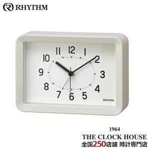 リズム プラス Aシリーズ クオーツ 掛置兼用 目覚まし時計 A6サイズ ホワイト 8RE675SR03 インテリア ザ・クロックハウスPayPayモール店