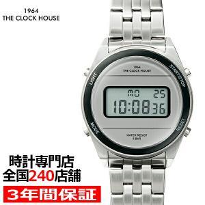 ザ・クロックハウス タウンカジュアル メタル デジタル ユニセックス 腕時計 ラウンド グレー シル...