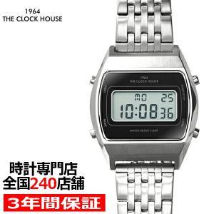 ザ・クロックハウス タウンカジュアル メタル デジタル ユニセックス 腕時計 トノー ブラック シル...