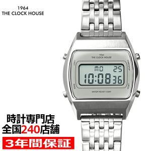 ザ・クロックハウス タウンカジュアル メタル デジタル ユニセックス 腕時計 トノー グレー シルバ...