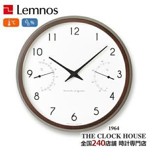 タカタレムノス カンパーニュ エール 掛時計 クロック ブラウン 温湿度計 ホワイト シンプル PC17-05BW インテリア アラビア数字 ザ・クロックハウスPayPayモール店