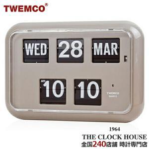 TWEMCO トゥエンコ 掛置兼用 パタパタ時計 フリップクロック パーペチュアルカレンダー グレー QD-35 ザ・クロックハウスPayPayモール店