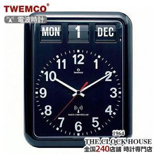 TWEMCO トゥエンコ 電波 掛時計 パタパタ時計 フリップクロック パーペチュアルカレンダー ブラック RC-12A ザ・クロックハウスPayPayモール店