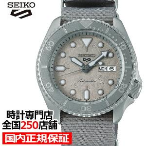 セイコー 5スポーツ ストリート CEMENT BOY セメントボーイ SBSA127 メンズ 腕時計 メカニカル 自動巻き 回転ベゼル グレー 日本製|ザ・クロックハウスPayPayモール店