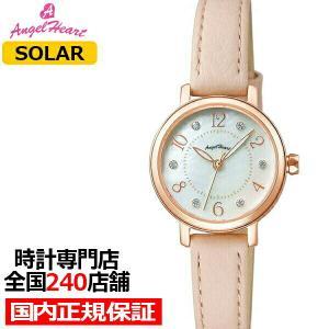 エンジェルハート トゥインクルハート THN24P-PK レディース 腕時計 ソーラー 革ベルト ホワイトパール スワロフスキー|ザ・クロックハウスPayPayモール店