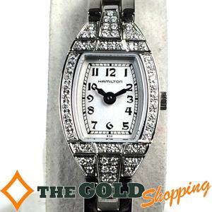 ハミルトン / HAMILTON : レプリカ レディースクォーツ ダイヤベゼル H31151183 時計 腕時計 レディース[女性用] 中古|thegoldshopping