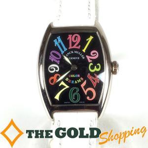 フランクミューラー / FRANCK MULLER : トノーカーベックス カラードリームス 7502QZ 時計 腕時計 レディース[女性用] 中古 【中古】|thegoldshopping