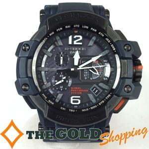カシオ / CASIO : Gショック スカイコックピット GPS ハイブリット電波ソーラー GPW-1000-2AJF 時計 腕時計 メンズ[男性用] 中古 thegoldshopping