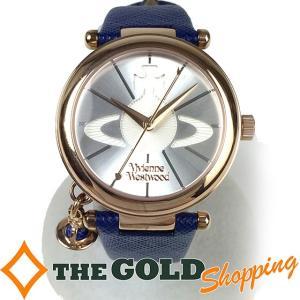 ヴィヴィアンウエストウッド / Vivienne Westwood : レディース クォーツ オーブ チャーム付き VV006RSBL RF 時計 腕時計 レディース[女性用] 中古 【中古】|thegoldshopping