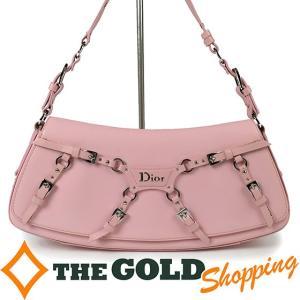 クリスチャンディオール / Chiristian Dior : ハンドバッグ レザー ピンク×シルバー金具 10-MA-1003 バッグ ハンドバッグ 中古 【中古】 thegoldshopping
