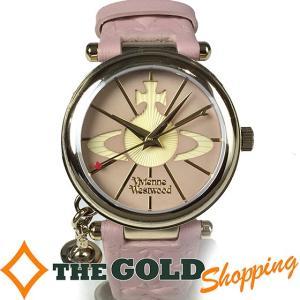 ヴィヴィアンウエストウッド / Vivienne Westwood : レディース クォーツ オーブ モチーフ チャーム付き VV006PKPK 時計 腕時計 レディース[女性用] 中古 (中|thegoldshopping