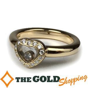 ショパール / Chopard : 750YG ハッピーダイアモンド ハート リング 1P&パヴェダイヤ #12 仕上済 97041 ジュエリー・アクセサリー 指輪・リング 中古 (中古|thegoldshopping