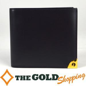 値下げ ダンヒル / Dunhill : 2つ折り 財布 黒 財布 折財布 中古|thegoldshopping