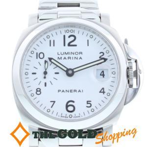 値下げしました!パネライ / PANERAI:ルミノールマリーナ ホワイト文字盤 PAM00051 時計 腕時計 メンズ[男性用]【中古】 thegoldshopping