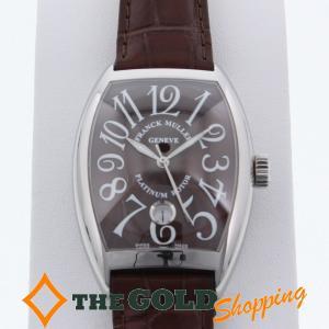 フランクミュラー / FRANCK MULLER : トノーカーベックス ブラウン文字盤 日本国内正規品 7880SCDT AC 時計 腕時計 メンズ[男性用] 中古|thegoldshopping